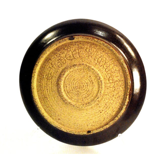 Blenko Mid-Century Robert Maxwell Blenko Glaze Ashtray For Sale - Image 4 of 7