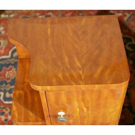 Art Deco Burl Wood Nightstands - A Pair - Image 3 of 8