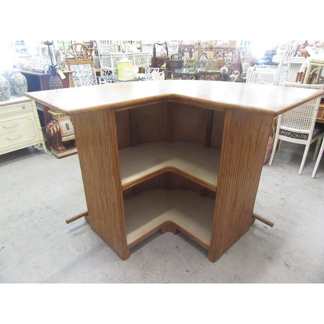 1970s 1970s Island Style Bamboo Bar For Sale - Image 5 of 8