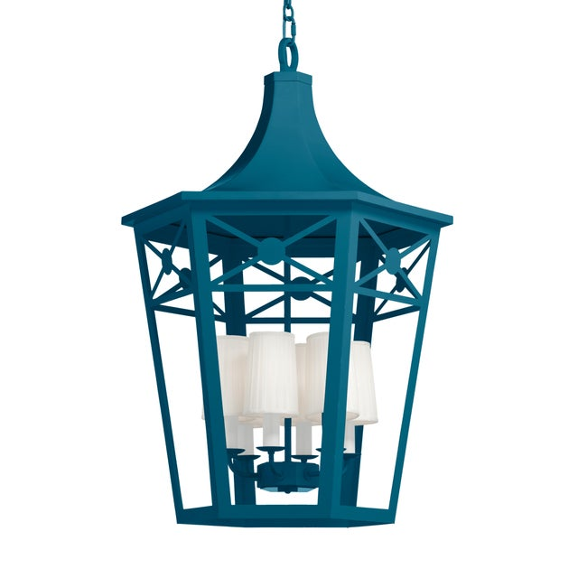 Casa Cosima Bennington Lantern, Blue Danube For Sale - Image 4 of 4