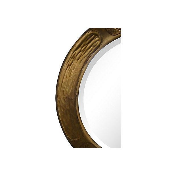 Art & Crafts Aesthetic Movement Giltwood Round Mirror For Sale - Image 4 of 7