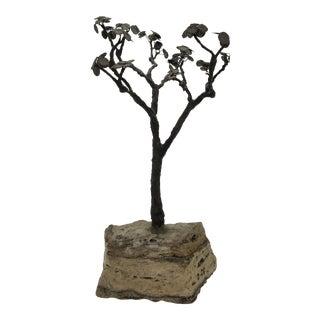 Dale Jones Silver & Copper Alloy Tree For Sale