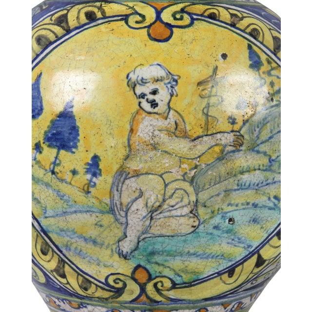 Renaissance Roman Majolica Pot For Sale - Image 3 of 10