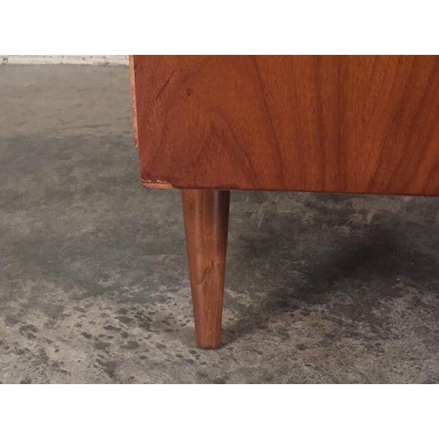 Walnut Mid-Century Four-Drawer Dresser - Image 9 of 9