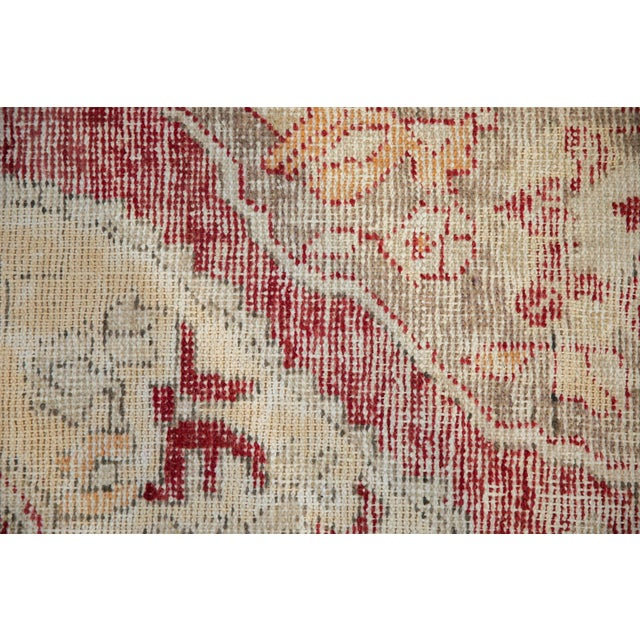 """White Vintage Distressed Oushak Rug - 4'8"""" X 7'8"""" For Sale - Image 8 of 10"""