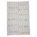 Image of Vintage Turkish Cotton Kilim Rug-6′9″ × 10′ For Sale