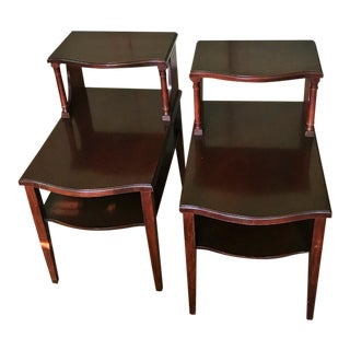 Mersman Mid-Century Modern Mahogany Step End Tables - a Pair For Sale