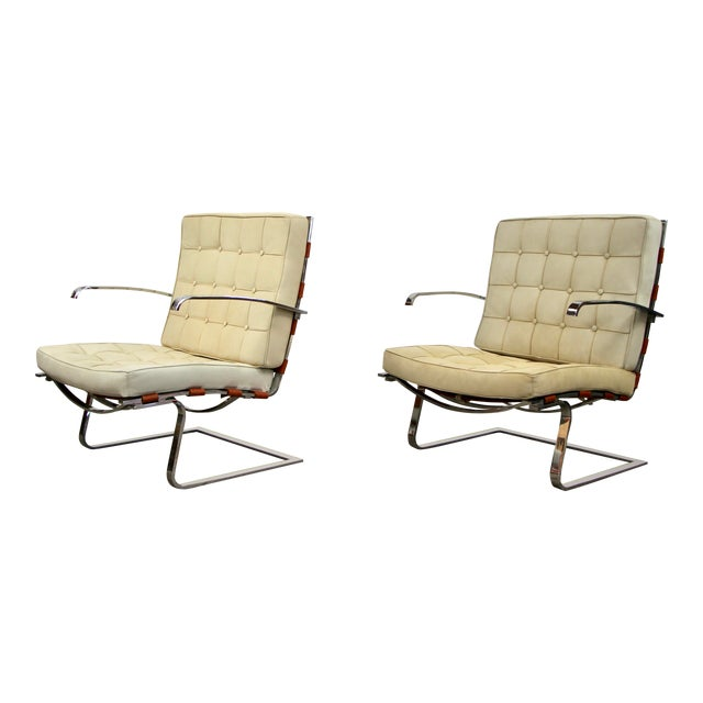 Mies Van Der Rohe and Lilly Reich Tugendhat Chairs - a Pair For Sale