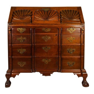 Early 19th Century Mahogany Wood Drop-Front Writing Desk For Sale