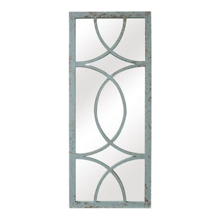Jardin Distressed Verdi Gris Rustic Style Wall Mirror For Sale