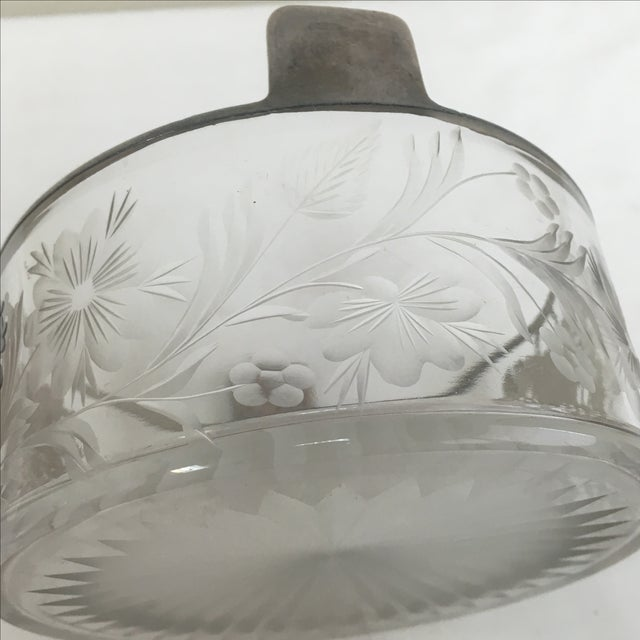 Vintage Silver Overlay Flower Basket Ice Bucket For Sale - Image 4 of 4