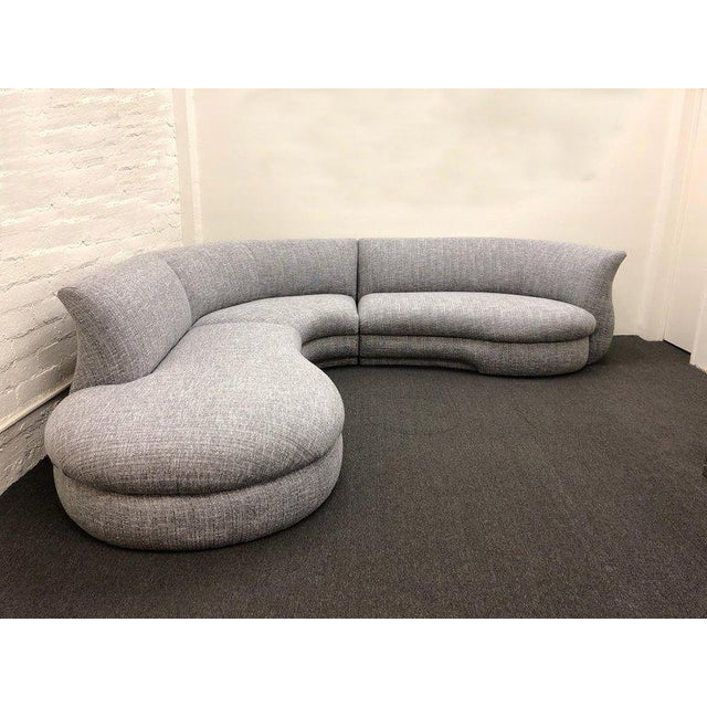 1990s Three-Piece Sectional Sofa For Sale - Image 5 of 10