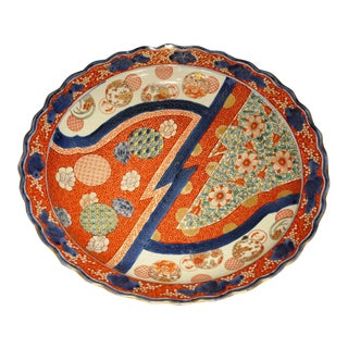 19th Century Imari Charger Plate For Sale