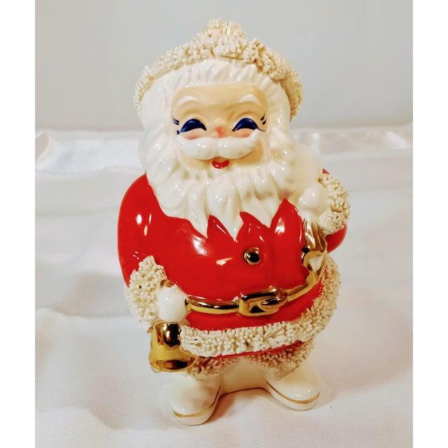 Red Vintage Napco Japan Mid Century Santa Spaghetti Bank Figurine For Sale - Image 8 of 8