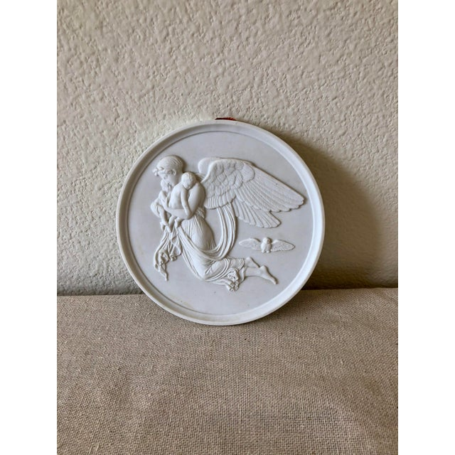 Vintage Bing & Grøndahl Porcelain Angel Wall Plaques - a Pair For Sale In Dallas - Image 6 of 9