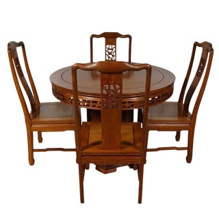 20th Century Chinese Rosewood Dining Set - 5 Pieces For Sale