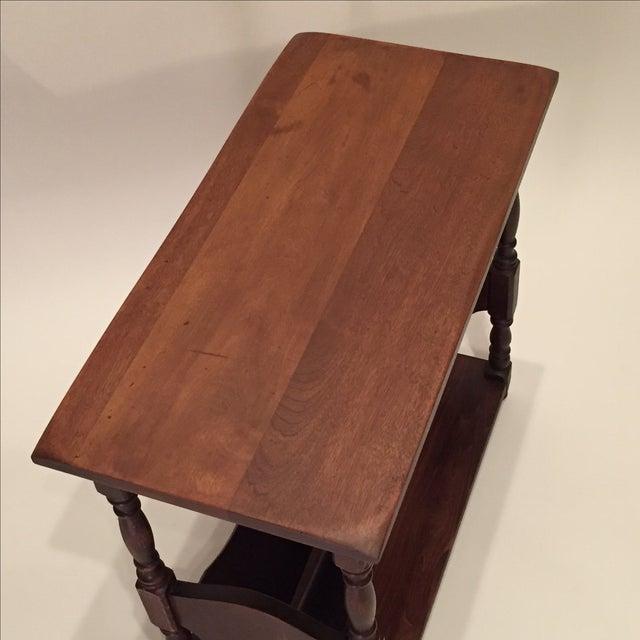 Vintage Walnut Bookshelf Side Table - Image 8 of 8