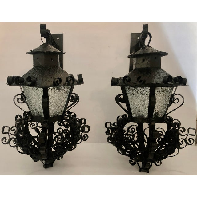 Pair Midcentury Outdoor Sconces For Sale - Image 11 of 11