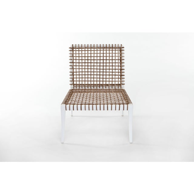 Contemporary Delta Beta Armless Chair in White For Sale - Image 3 of 5