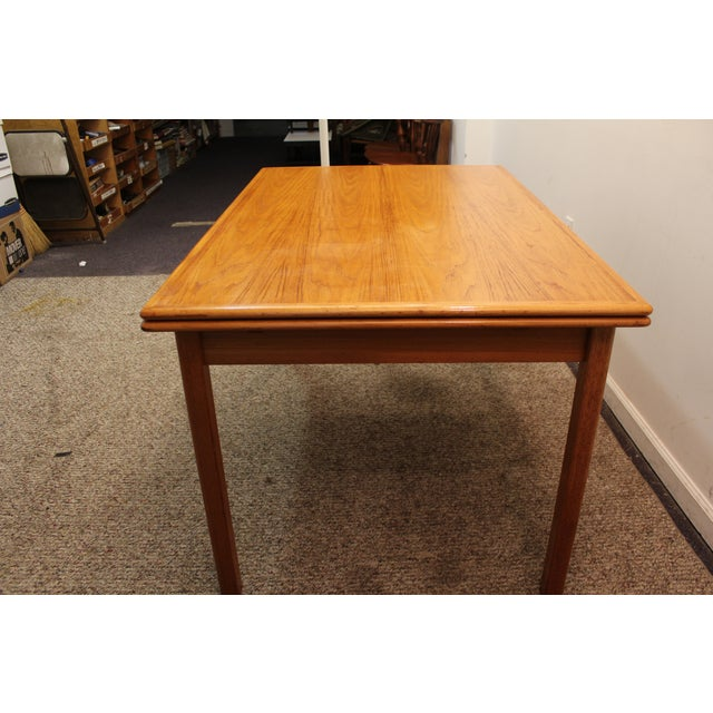 Mid-Century Danish Modern Teak Dining Table - Image 5 of 10