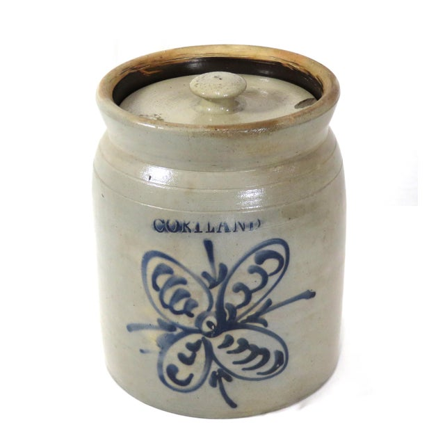 Antique American Primitive Stoneware Storage Jar For Sale - Image 13 of 13