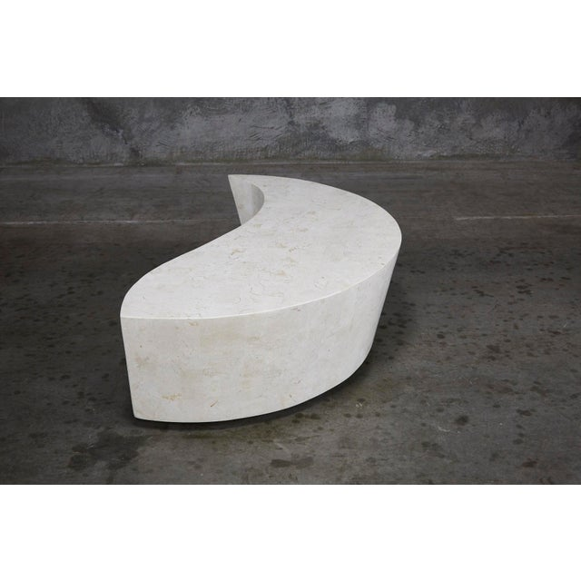 "Fiberglass 1990s Contemporary White Freeform Tessellated Stone ""Hampton"" Coffee Table For Sale - Image 7 of 13"