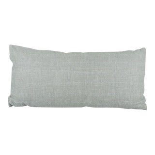 Kerry Joyce Hand-Printed Linen Lumbar Pillow With Down Insert For Sale