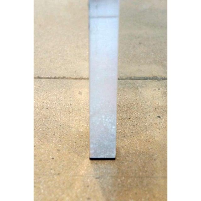 Metal Burled Walnut & Aluminum Console For Sale - Image 7 of 8