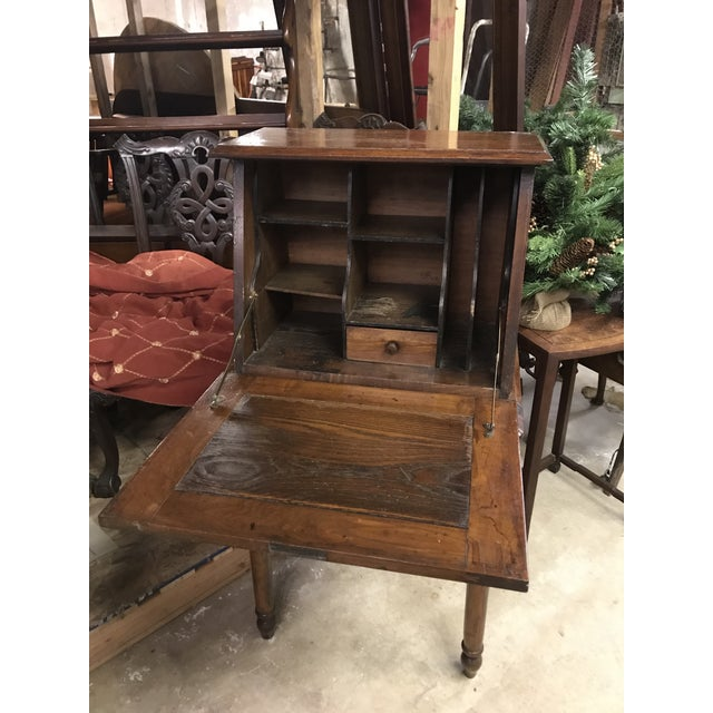Early American 19th Century Early American Eastlake Oak Ladies Desk For Sale - Image 3 of 5