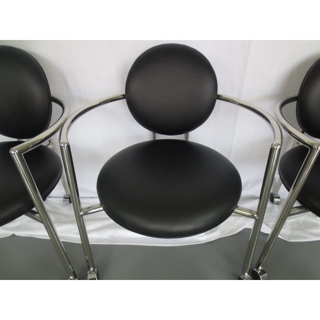 Stanley J Friedman for Brueton Moon Chairs - S/3 - Image 4 of 6