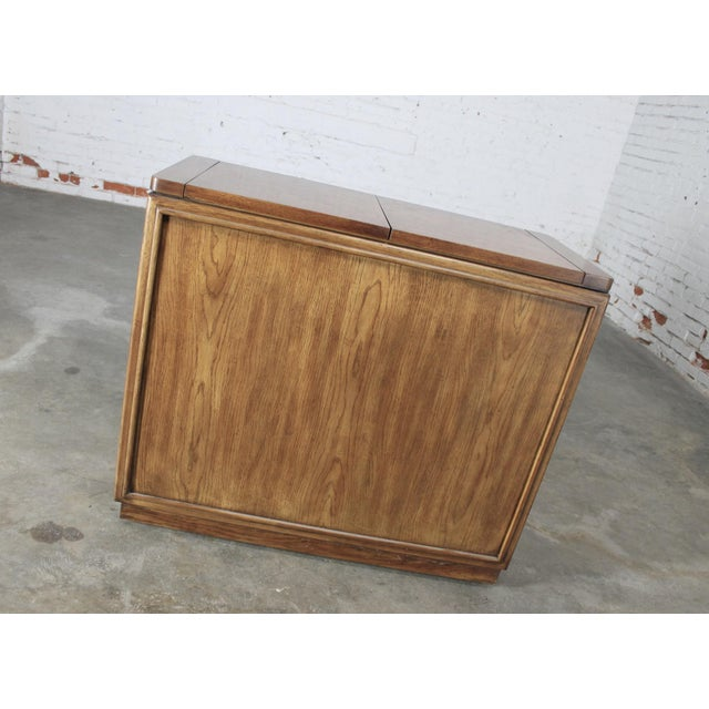 Drexel Heritage Mid-Century Campaign Style Rolling Dry Bar - Image 6 of 11