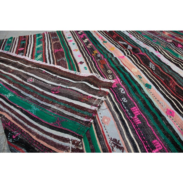 Turkish Kilim Rug - 8' 8'' X 5' 10'' For Sale - Image 11 of 11