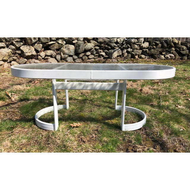 Aluminum Modern Winston Patio Coffee Table For Sale - Image 7 of 10