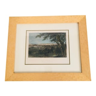 """Framed 19th Century """"View of Baltimore"""" Engraved Print For Sale"""