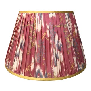 Penny Morrison Pink Ikat & Camel Trim Lamp Shade For Sale