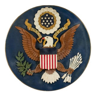 American Federal Polychromed US Seal Plaque For Sale