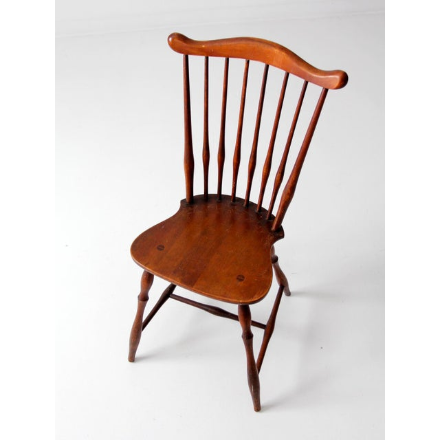 Late 19th Century Antique Fan Back Windsor Chair For Sale - Image 5 of 10