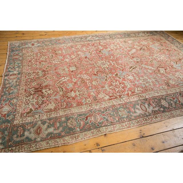 """Vintage Distressed Heriz Carpet - 6'8"""" X 9'6"""" For Sale - Image 12 of 13"""
