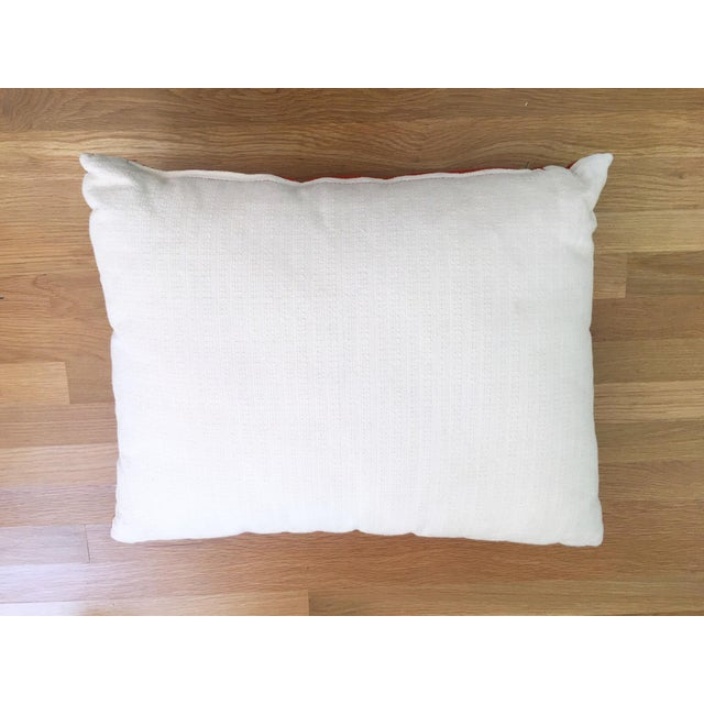 Orange Cowhide Pillow - Image 5 of 6