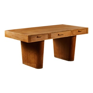 An Unusual and Architectural Italian Wood Desk For Sale