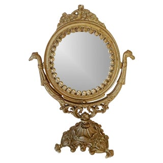 Victorian Table Swivel Mirror For Sale
