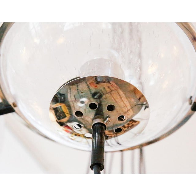 Chrome Saturnus Glass Globe Chandelier by Raak of Holland For Sale - Image 8 of 13