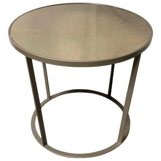 New Coffee or Side Table in Champagne Color With Smoked Mirrored Glass Top For Sale