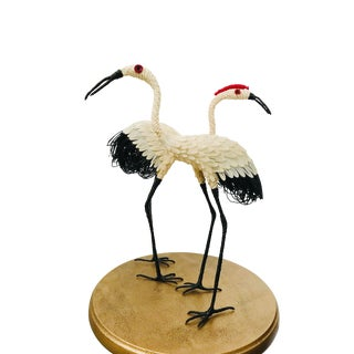 Japanese Mid Century Crane Sculptures - Set of 2 For Sale