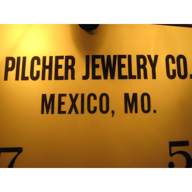 Bulova Pilcher Jewelry Advertising Lighted Clock For Sale - Image 4 of 7