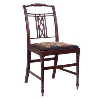 English Sheraton Carved Side Chair