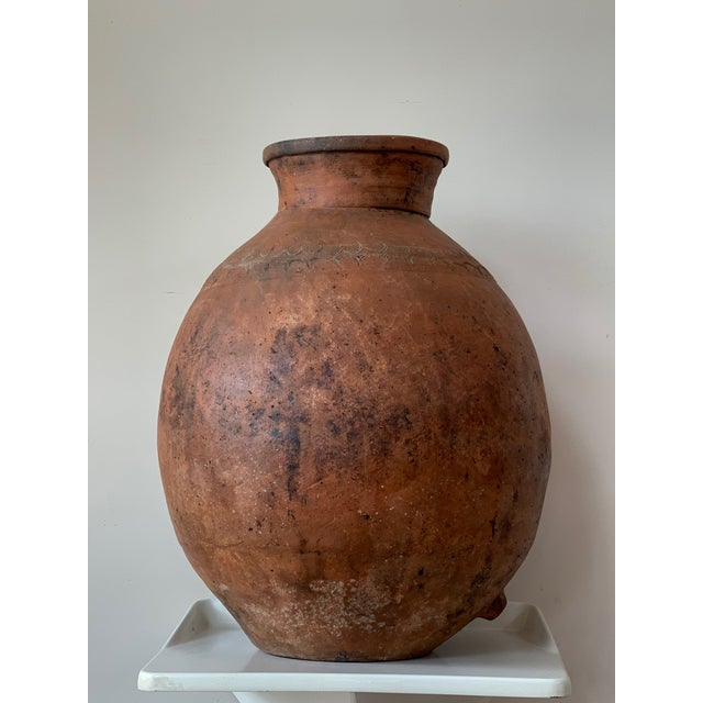 17th Century 17th Century Spanish Red Terracotta Vessel, Vase, Planter With Low Tap For Sale - Image 5 of 13