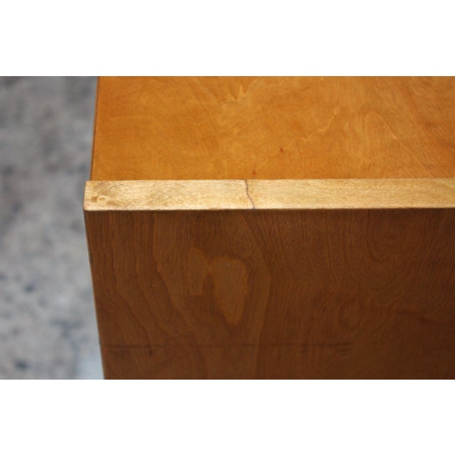 Metal Edmond J. Spence Sideboard in Maple and Brass For Sale - Image 7 of 11
