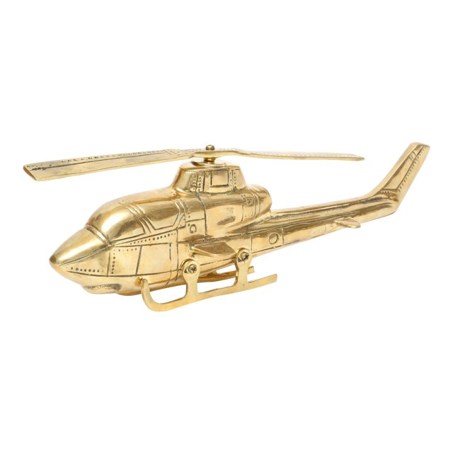Vintage Brass Helicopter - Image 1 of 5