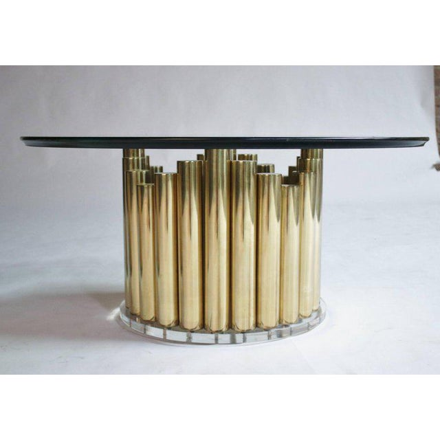 Brass and Lucite Cocktail or End Tables For Sale - Image 4 of 9
